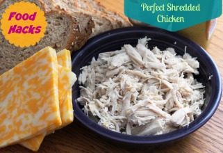 Perfect shredded chicken in 30 seconds! Seriously! This is a food hack you will use all the time! Small Town Girl Blog