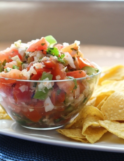 Pico de Gallo Especial. When you're in the mood for a more flavorful and adventurous salsa! Small Town Girl Blog.