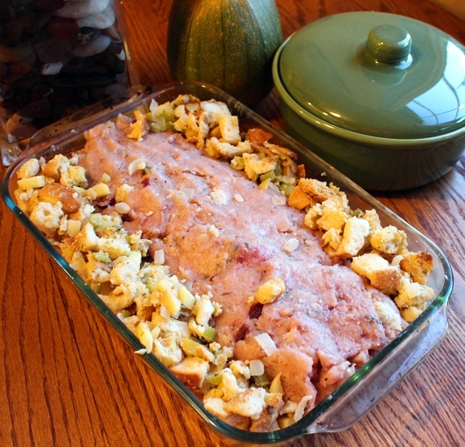Thanksgiving Turkey Loaf with stuffing. 1/2 the work, 1/2 the time. Have turkey dinner any night of the week! Small Town Girl Blog