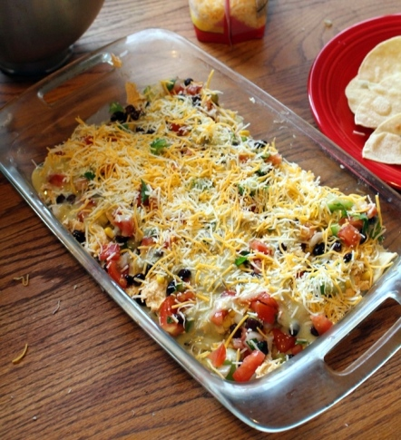 Easy Stacked Green Enchiladas. Because who has time to individually wrap tortillas? This is a great go to meal for busy evenings. Small Town Girl Blog.