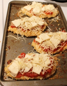 Baked Chicken Parmesana. A crispy no fry version of this classic dish. Super easy, chicken is always crispy on the outside and juicy on the inside. Small Town Girl Blog