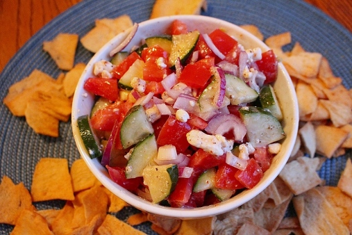 Greek Salad. Fresh, quick, and easy to make, a great side for almost any meal! Small Town Girl Blog.