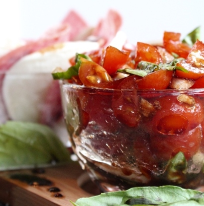 Sweet Cherry Tomato Bruchetta. Small Town Girl Blog.
