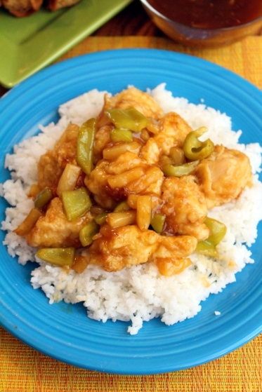 Better than take-out sweet and sour chicken. Small Town Girl Blog