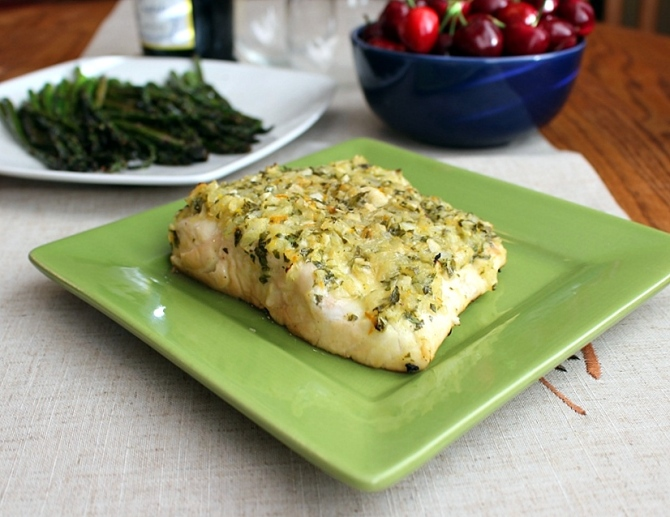 Citrus and Garlic Marinaded Halibut