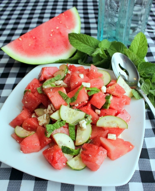 Watermelon Salad. Small Town Girl Blog.