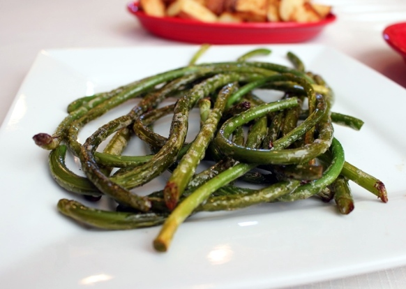 Sauteed Garlic Scapes. Small Town Girl Blog