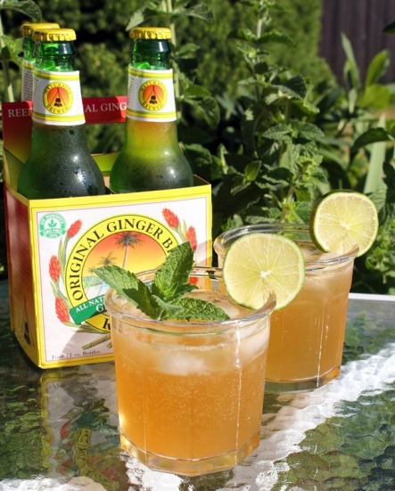 A delicious mash-up cocktail! Part mojito, part dark and stormy. All delicious! The perfect summer drink! Small Town Girl Blog.