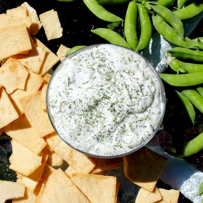 Garlic Dill Dip. The most amazing dip in the world. This is the only one you will ever need. Great for all occasions. Seriously, you need this in your life! Small Town Girl Blog.