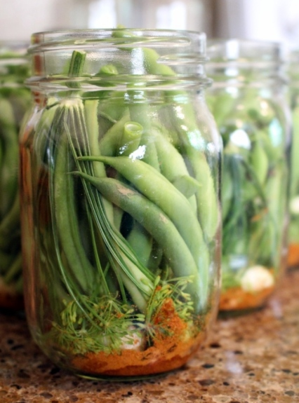 How to can delicious dilly beans. Small Town Girl Blog.